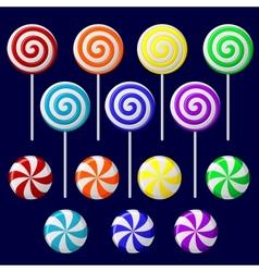 delicious lollipop collection vector image vector image