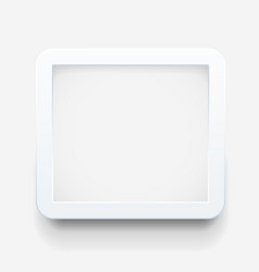 Empty frame template vector