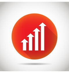 Growth chart icon vector image