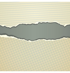Torn old paper vector image