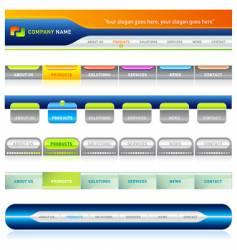 web menu vector image vector image
