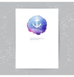 brochure template with anchor logo vector image