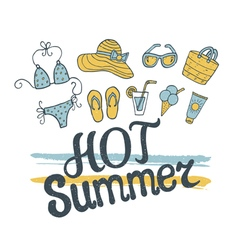 hot summer pattern vector image vector image