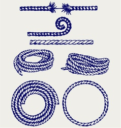 Nautical rope knots vector image vector image