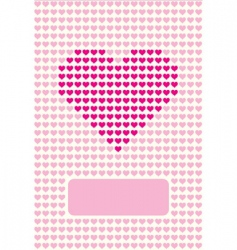 postcard lovers vector image vector image