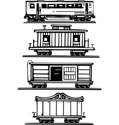 Train Car Collection vector image vector image