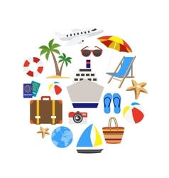 Vacation Decorative Icons Set vector image vector image