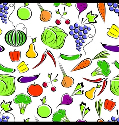 vegetables and fruit vector image vector image