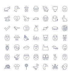49 cute icons vector