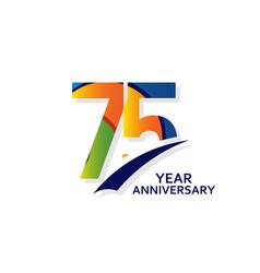 75 years elegant anniversary celebration template vector