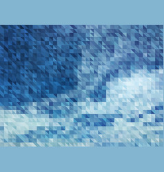 abstract blue background of sky with clouds vector image