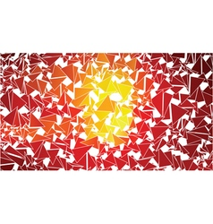 abstract red orange triangles background vector image