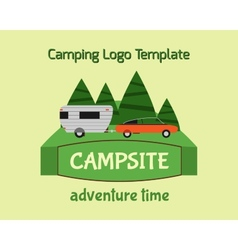 Adventure Tourism Travel Logo Vintage Labels vector image