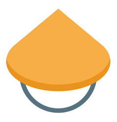 Asian conic hat icon isometric style vector