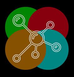 atom molecules icon vector image