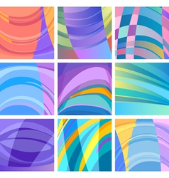 background modern abstract design set vector image