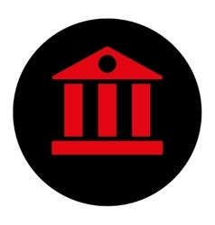 Bank flat intensive red and black colors round vector