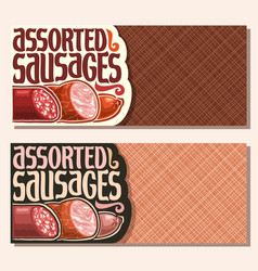 Banners for sausage vector