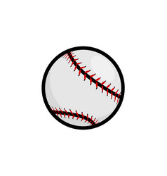 baseball stitches softball icon baseball vector image