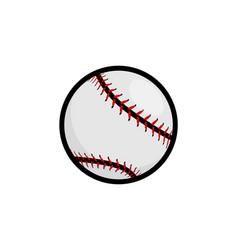 Baseball stitches softball icon vector