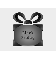 black friday abstract present vector image