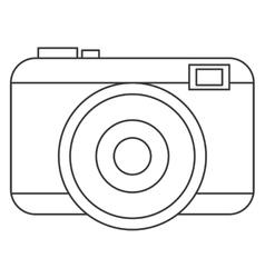 Black line photographic camera vector