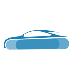 blue auto logo with background vector image