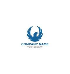Blue phoenix logo design vector