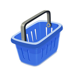 Blue plastic basket vector