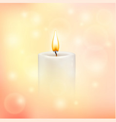 Blurry soft background with candle vector