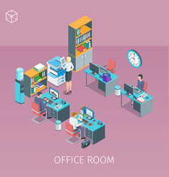 business people working in office vector image