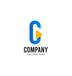 C company logo template design vector