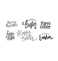 Calligraphy logotypes holiday logos set holiday vector
