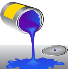 Can of the blue paint vector