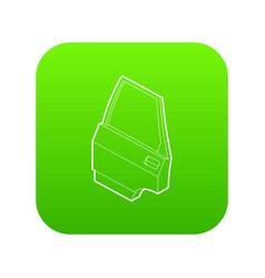 car door icon green vector image