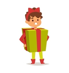 Carnival costume kid vector