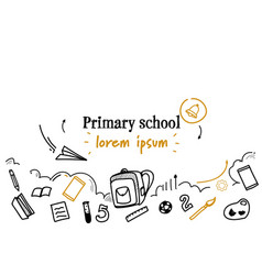 Children education primary school concept sketch vector