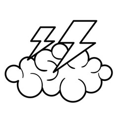 Cloud thunder weather vector