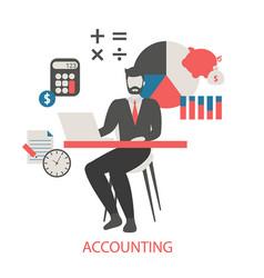 concept of accounting concept of accounting vector image