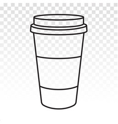 Disposable coffee paper cups flat icon for apps vector