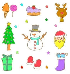 Doodle of christmas element hand draw vector