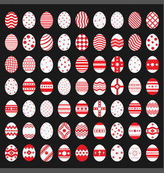 Easter egg icon set vector