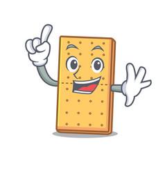 Finger graham cookies mascot cartoon vector