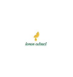 fresh fruit orange lemon lime cut slice extract vector image