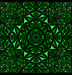Green abstract repeating curved triangle vector