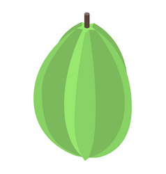 green carambola icon isometric style vector image