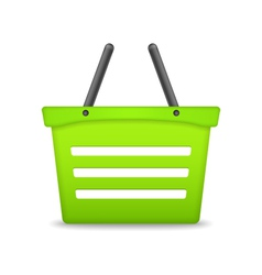 Green Shopping Basket vector