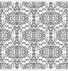 grunge seamless decorative ethnic pattern vector image