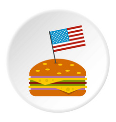 Hamburger icon circle vector