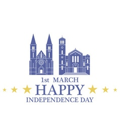 Independence Day Bosnia and Herzegovina vector image